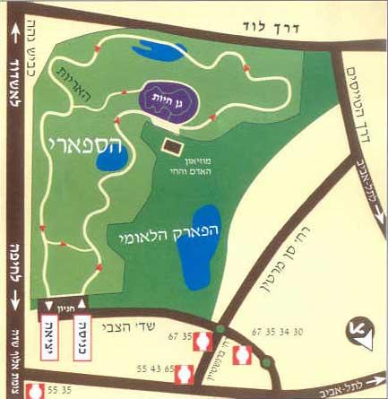 Zoos Ramat Gan - Ramat gan map