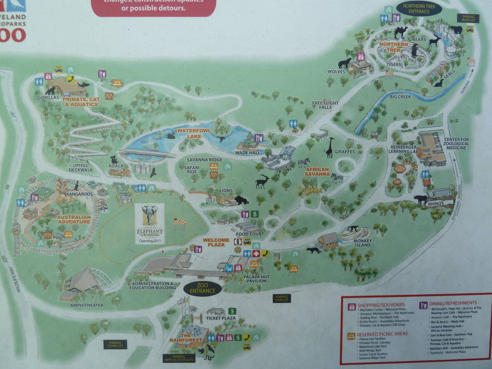 Zoos - Cleveland Zoo ** Cleveland Zoo Map on