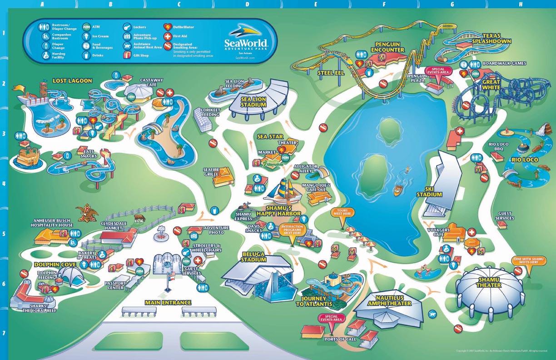 Zoos San Antonio Seaworld - Sea world map