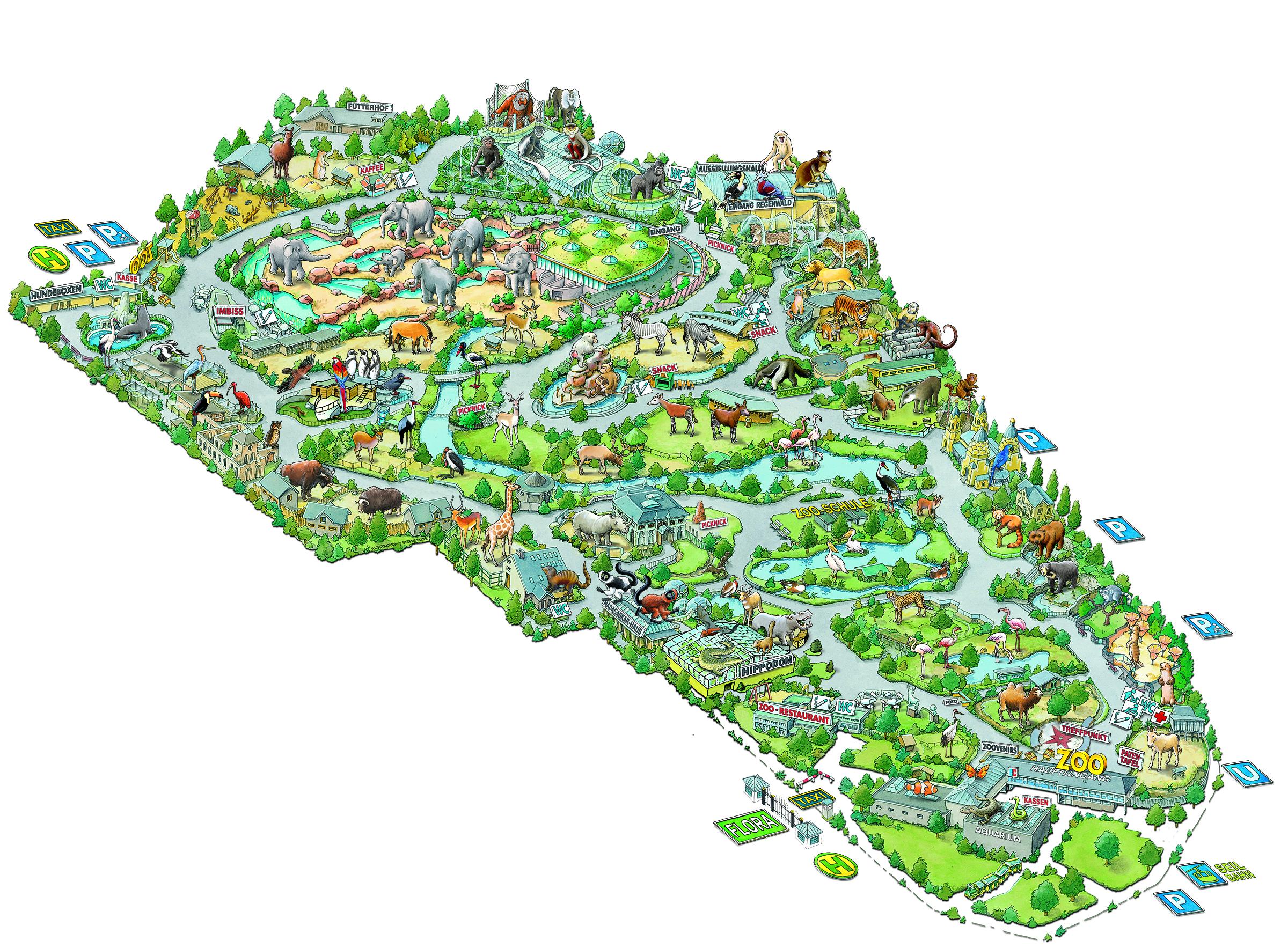 Köln Zoo Karte | algarve karte