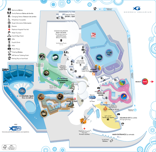 Zoos Atlanta Aquarium - Georgia map 2015