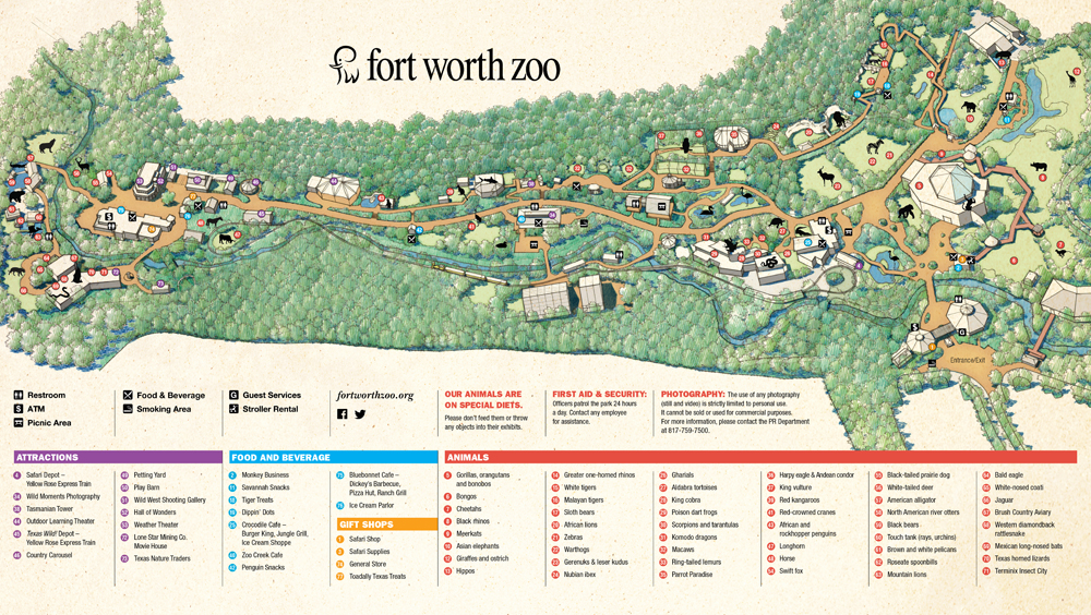 Zoos - Fort Worth ** Dallas Zoo Map on