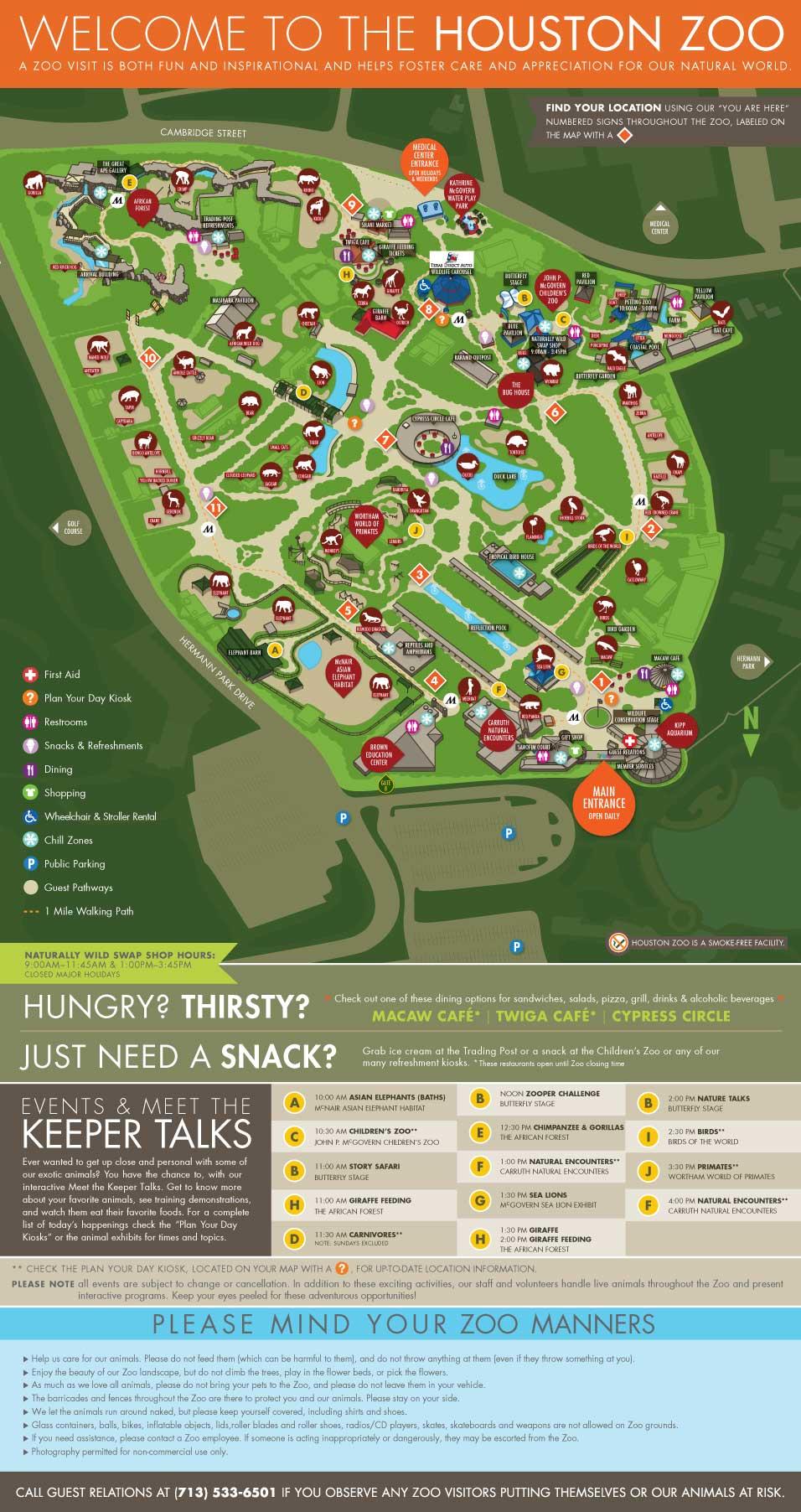 Zoos Houston Zoo - Houston zoo map
