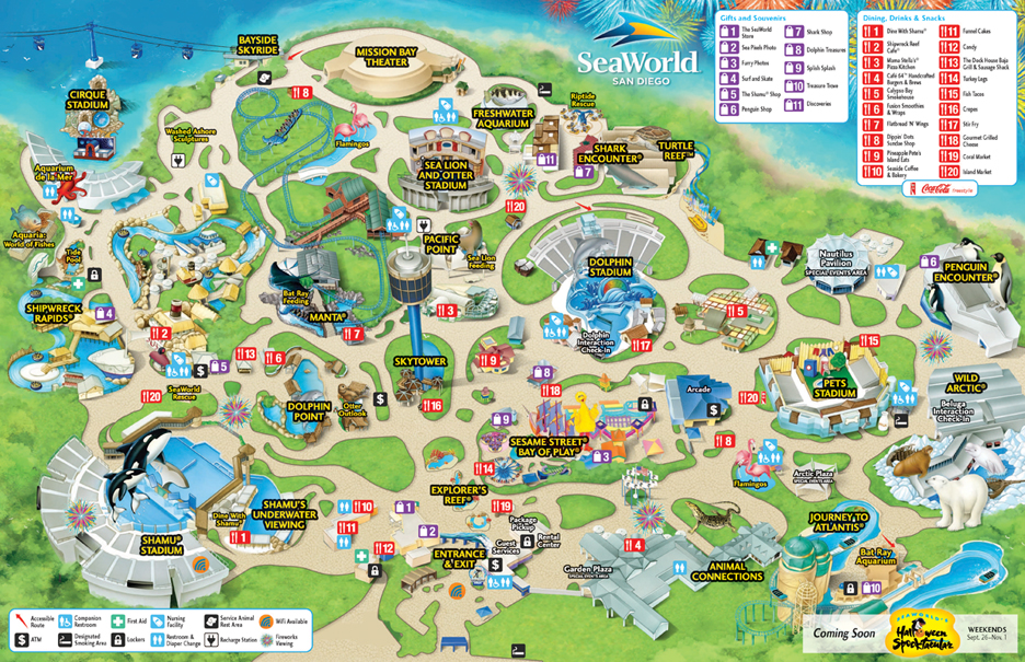 seaworld san diego map 2015 Zoos San Diego Seaworld