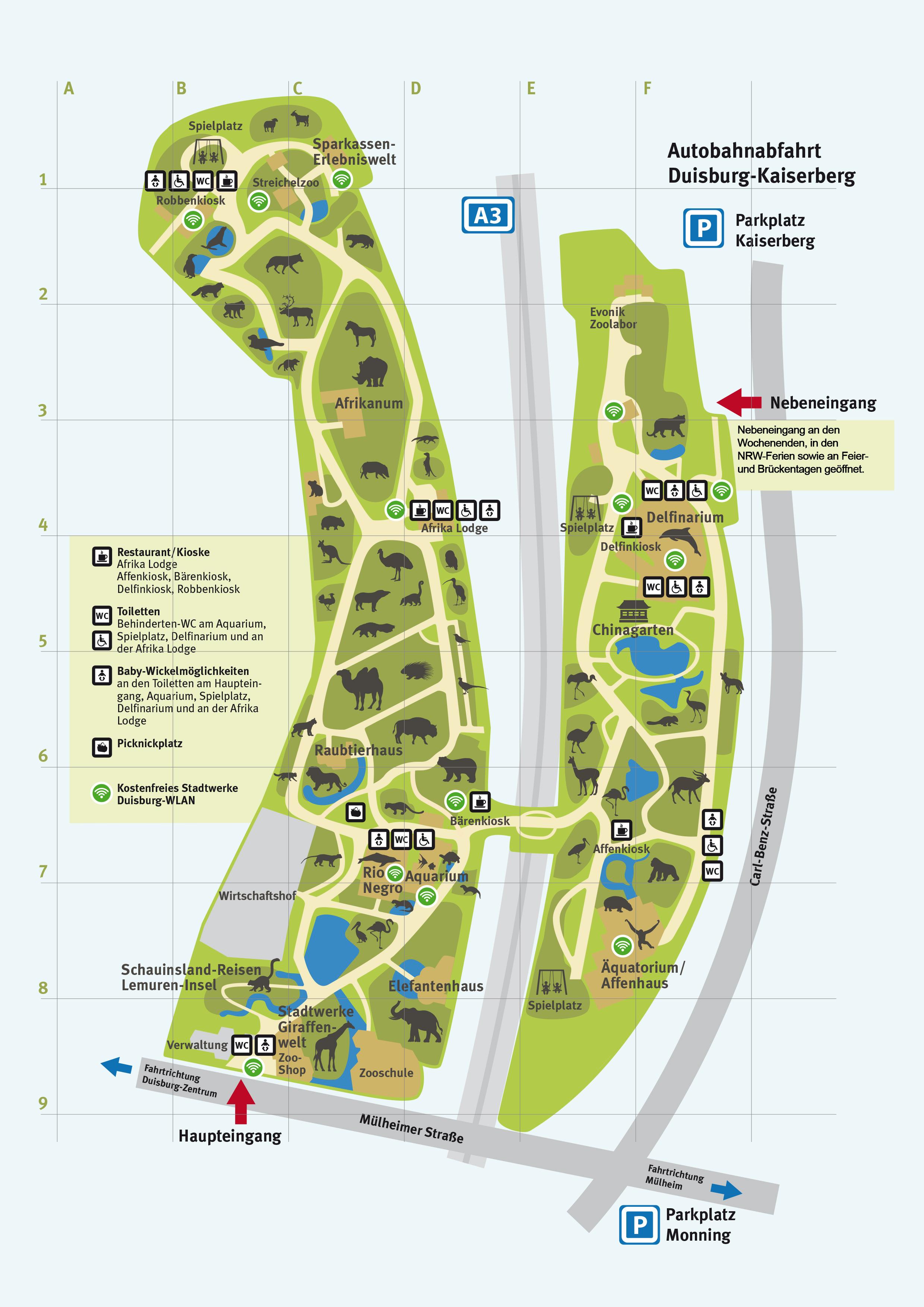 Duisburg parkplatz zoo Parkplatz Zoo